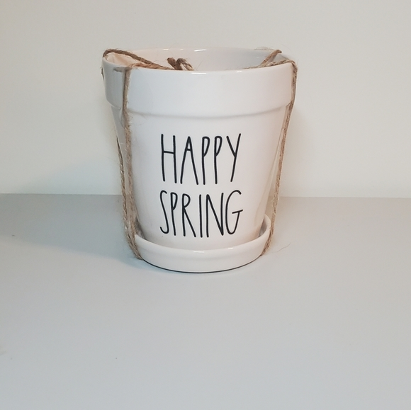 New Rae Dunn Happy Spring Planter